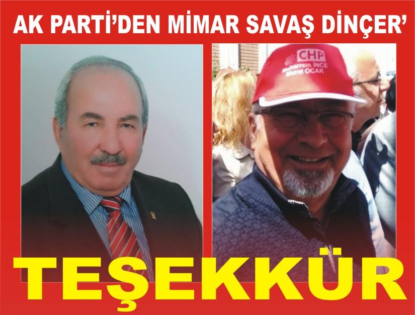 AK Parti den Sava� D�N�ER e Te�ekk�r