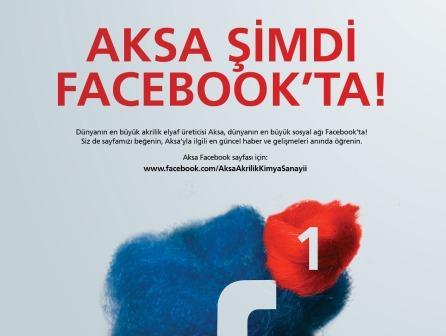 Aksa Akrilik, Facebook ta takip�ileri ile bulu�acak