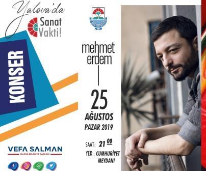 Mehmet Erdem Yalova da sahne alacak